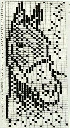 Bilderesultat for knitting chart kuvio Filet Crochet Charts, Knitting Charts, Knitting Stitches, Knitting Patterns, Beading Patterns Free, Bead Loom Patterns, Cross Stitch Designs, Cross Stitch Patterns, Crochet Horse