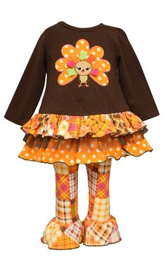 This is a must for Thanksgiving!! Your princess will look adorable but comfortable!! SHIPS WITH FREE HAIR BOW