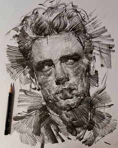 K's dynamic portraits are brought to life with a trio of mediums and a flurry of motion. Kunst Inspo, Art Inspo, Portrait Art, Portraits, Kunst Portfolio, Arte Sketchbook, A Level Art, Art And Illustration, Illustrations