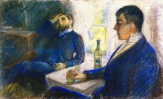 E. Munch, Absinthe Drinkers (1890)