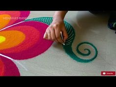 Easy Rangoli Design For Diwali - YouTube