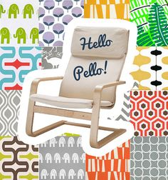 Custom IKEA PELLO Slip Cover, Multiple Prints#ad