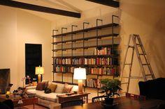 diy pipe bookshelf, bookshelf, industrial bookshelf