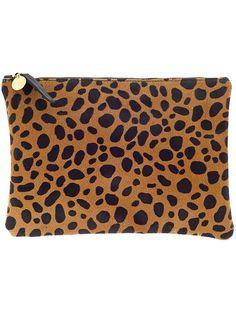 Clare V Flat Clutch Supreme - Leopard