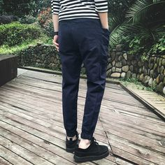 Find More Casual Pants Information about casual mens joggers Men's jeans black stretch pants feet pencil pants Korean Slim pants men's trousers tid 2016 sport men pants,High Quality pant beige,China pants with suspender buttons Suppliers, Cheap pants motocross from Moncloth show on Aliexpress.com