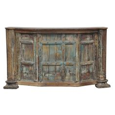 Distressed Wood Old Door Bar