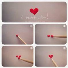 Tırnak Süsleme Kalp Yapımı1