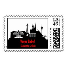 Las Vegas Skyline Sticker Postage Stamp. I love this design! It is available for customization or ready to buy as is. All you need is to add your business info to this template then place the order. It will ship within 24 hours. Just click the image to make your own!