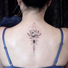 Lotus flower and geometric figure 🖊----- - Lotus flower and geometric figure 🖊—– tattoo tattoo tattoo - Girl Neck Tattoos, Spine Tattoos For Women, Tattoos For Women Flowers, Mom Tattoos, Cute Tattoos, Body Art Tattoos, Small Tattoos, Sleeve Tattoos, Tattoo Mama