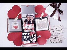 DIY birthday exploding box card (Sweetheart surprise) - YouTube