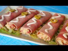 Los Canelones de Verano se hacen con lonchas de jamón cocido rellenas de los ingredientes que más te gusten. Son fáciles y económicos de preparar.