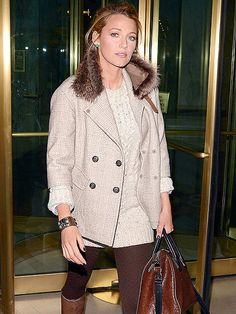 Blake Lively - LOVE this outfit. I want that jacket so badly!