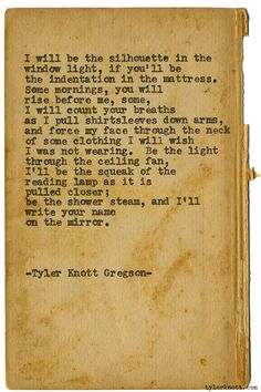 Typewriter Series #1525 by Tyler Knott Gregson Chasers of the Light & All The Words Are Yours are Out Now!