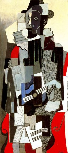 Pablo Picasso >> Harlequin  |  (Oil, artwork, reproduction, copy, painting).
