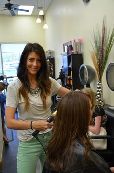 Love this girl's hair- the one doing the hair, not the girl in the chair...