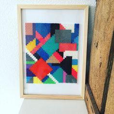 Abstract hama bead art by  louisemosegaard