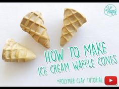 Polymer clay tutorial: Ice Cream Waffle Cones - How to - DIY Polymer Clay - YouTube