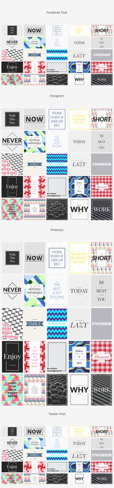 Pattern Social Media Banners  by Web Donut on @creativemarket