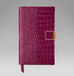 The Panama diary with enamelled slide in berry printed calf leather. #ScribeInStyle http://www.smythson.com/2015-panama-diary-with-slide.html