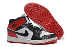 brand new d6f6d 66b3a Cheap Air Jordan 1 GS University Red Black White For Sale White Shoes,  White Sneakers