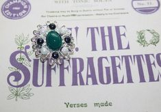 Give Women The Vote. Suffragette, Costume Jewelry, Brooch, Hand Painted, Jewellery, Trending Outfits, City, Unique Jewelry, Bracelets
