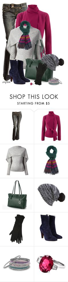 """Winter is Here"" by exxpress ❤ liked on Polyvore featuring Gucci, Roland Mouret, Etro, La Diva, Capelli New York, M&Co, L'Autre Chose, BillyTheTree, jeans and scarf"
