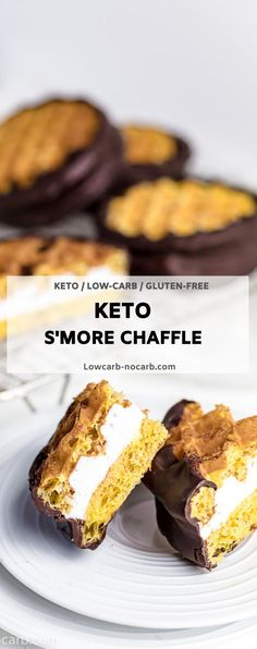 Perfect Keto Cammping Meals and Camping Food you can take with you. You can even burm arshmallows a bit. Either BBQ or Camping, those Chaffles needs to be always with you everywhere. Fully Low Carb, Grain-Free and Gluten-Free everyone will enjoy Summer Dessert Recipes, Keto Dessert Easy, Fun Easy Recipes, Party Recipes, Brunch Recipes, Cookie Recipes, Delicious Desserts, Sugar Free Cookies, Sugar Free Desserts