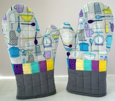 Quilted oven mitts via MAKE: