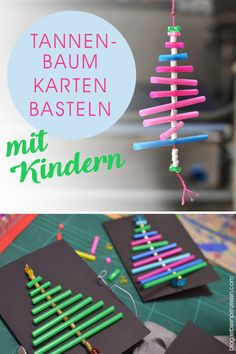 Advents-Basteln mit Kindern (Grundschule): Weihnachts-Karten mit Tannenbaum Advent handicrafts with children (primary school): Christmas cards with a fir tree School Christmas Cards, Christmas Tree, Christmas Ornaments, Christmas Crafts, Primary School, Elementary Schools, Diy Crafts To Do, Present Wrapping, Winter Kids