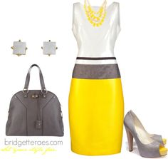Sunny Grey Career, created by bridgetteraes on Polyvore
