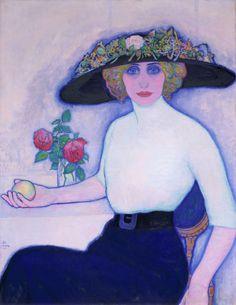 Woman with Peach - Leo Gestel 1911 Dutch 1881-1941