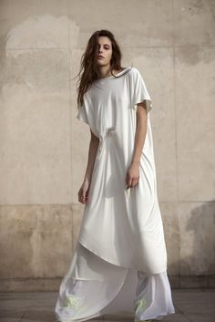 Spring 2013 Trend: Go With the Flow (Hartmann Nordenholz's cotton and silk jersey T-shirt dress and skirt.)  [Photo by Franck Mura]