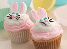 Adorable bunny cupcakes
