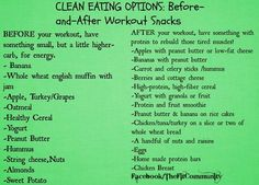 before and after workout snacks