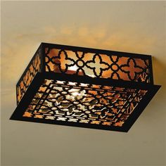 Reproduction Iron Grate Flush Mount Ceiling Light   235 Shades of Light