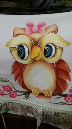 Tole Painting, Fabric Painting, Fabric Art, Owl Clip Art, Owl Art, Owl Crafts, Diy And Crafts, Owl Birthday Parties, Owl Tattoo Design