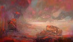 Frog, Mocaran M on ArtStation at https://www.artstation.com/artwork/EEAlK