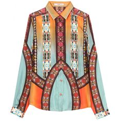 Etro - GRAPHIC PRINTED SILK BLOUSE - mytheresa.com
