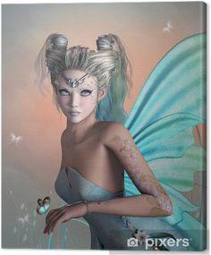 Illustration: Little blue fairy 3d Fantasy, Fantasy Artwork, Fantasy World, Magical Creatures, Fantasy Creatures, Fairy Wallpaper, Fairy Tattoo Designs, Unicorns And Mermaids, Fairy Pictures