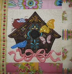 My version of this block, From Victorian Quilts by Anita Goodesign
