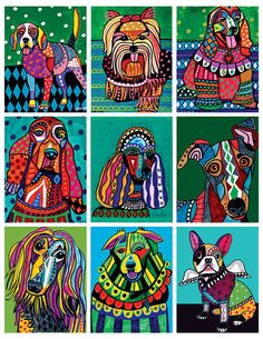 HEATHER GALLER Coloring Book Art Pages Dogs by HeatherGallerArt