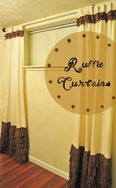 Ruffled Curtains - Creatively Living Blog. For the future super-girly sewing  craft room.