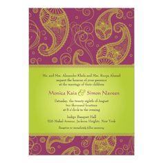 Indian Wedding Invitations Paisley Dreams Wedding Invitation