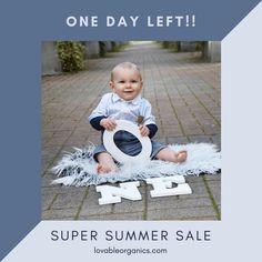 One day left of our super summer sale on all summer themed organic baby clothes Day Left, One Day, Clothes Sale, Organic Baby Clothes, Summer Sale, Giveaway, News, Blog, Blogging