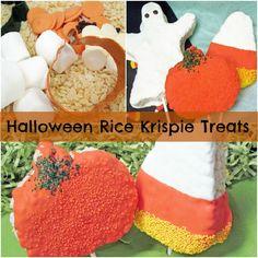 Yummm... Halloween Rice Krispie Treats - KidsParties123.com #halloween #recipe