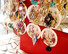 Where to hang necklaces and earrings?