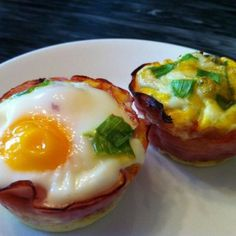 A Paleo Breakfast: Baked Eggs in Ham Cups | Oh Snap! Let's Eat!