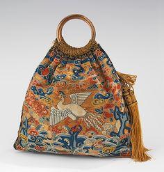 Evening bag / Date: 1920–29 Culture: American Medium: silk, metal, glass