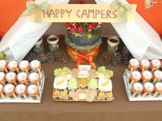 Oh Sugar Events: Happy Trails to You - A Camping Themed Wedding