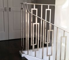 Interior Design Where To Start Modern Stair Railing, Staircase Handrail, Modern Stairs, Railing Design, Staircase Design, Metal Railings, Railing Ideas, Bannister, Deck Railings